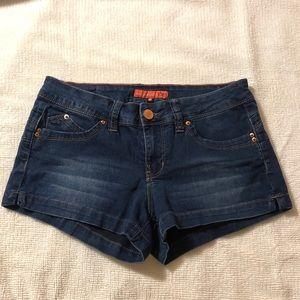 Super stretchy blue jean shorts